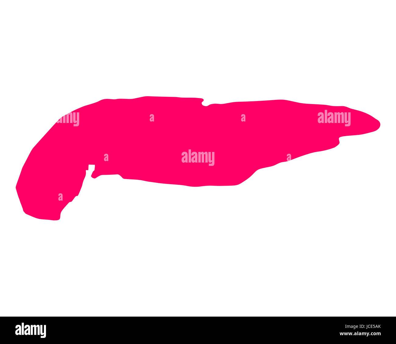 Karte von Spiekeroog - Stock Image