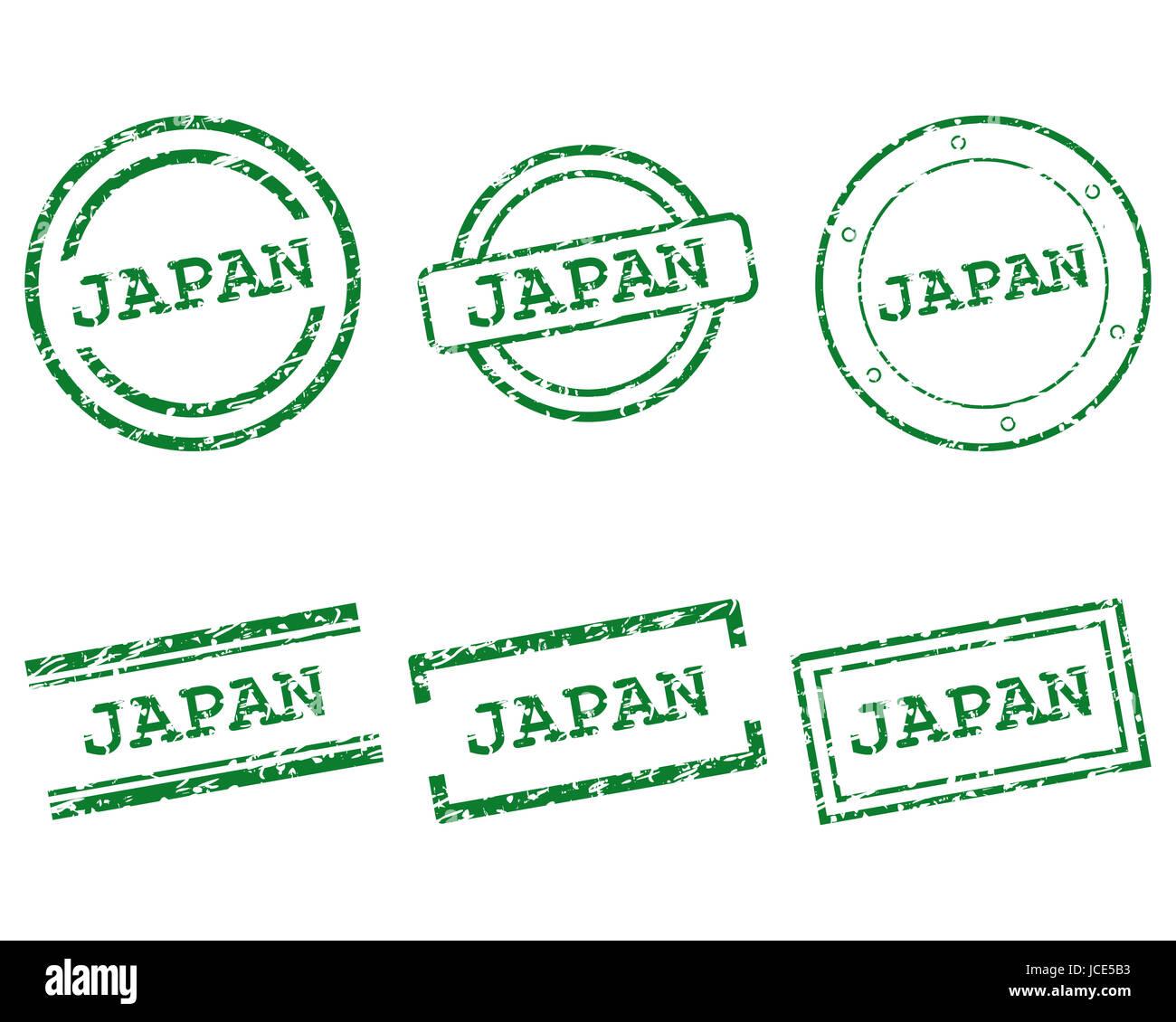 Japan Stempel - Stock Image