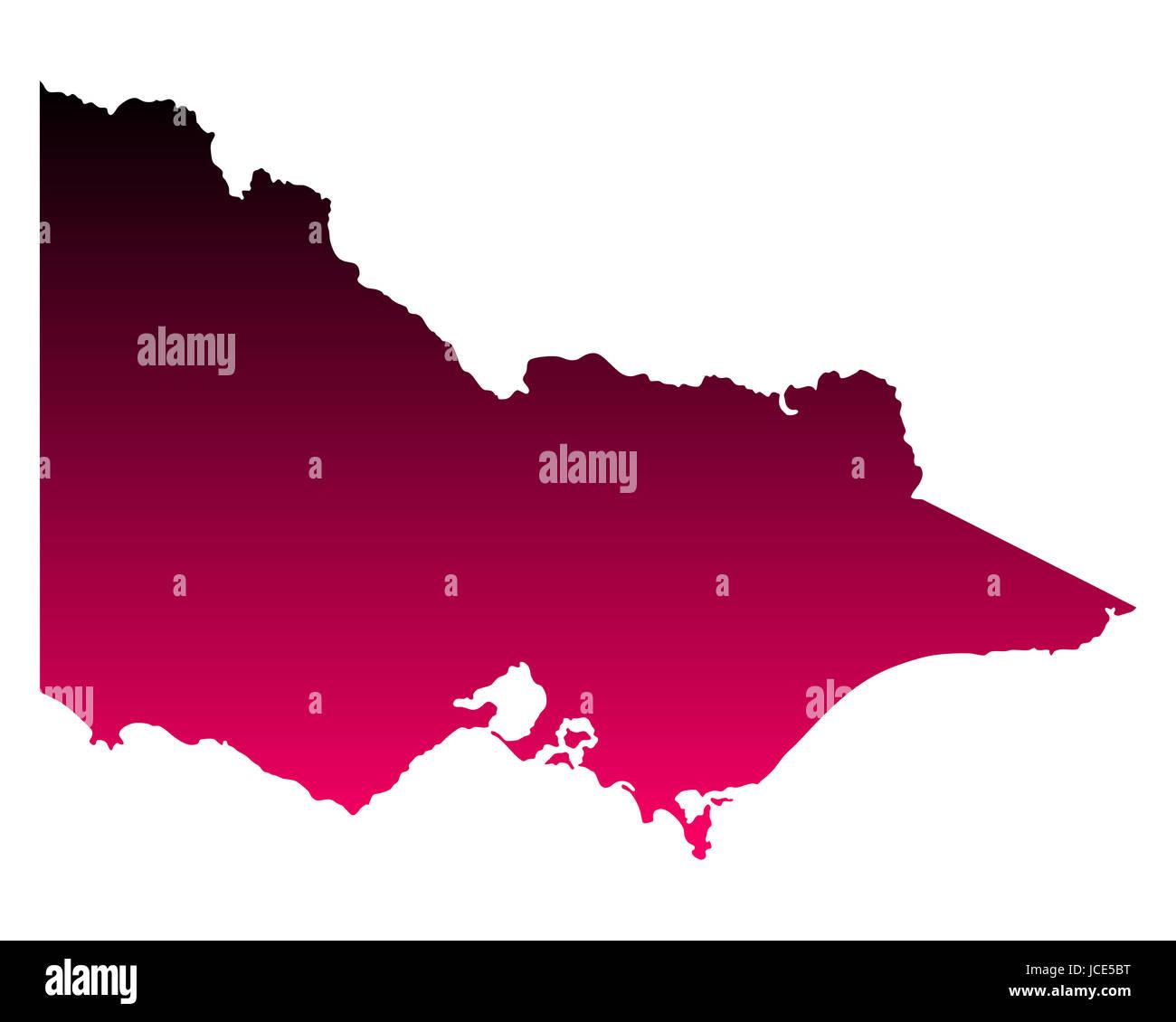 Karte von Victoria - Stock Image