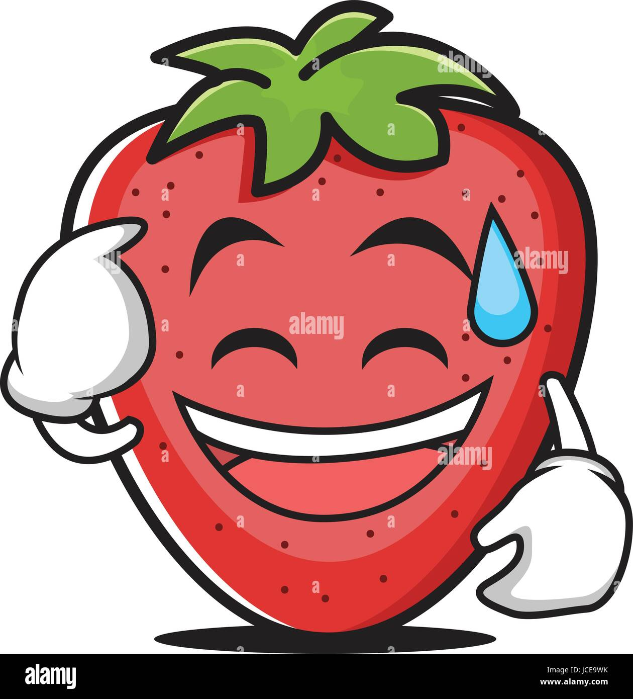 Sweat smile strawberry vector illustration - Stock Vector