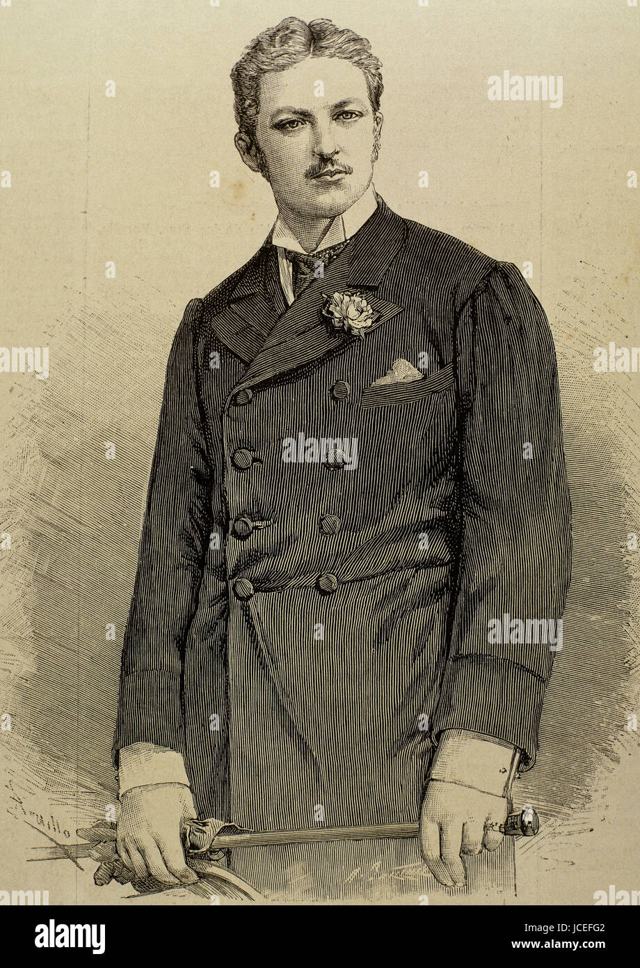 Prince Philippe d'Orleans, Duke of Orleans (1869-1926). Orleanist pretender to the French throne from 1894 to - Stock Image