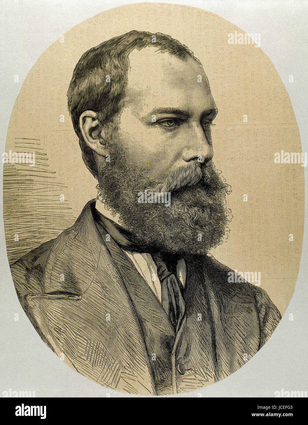 Prince Philippe of Orleans, Count of Paris (1838-1894). Orleanist pretender to the French throne from 1848 until - Stock Image