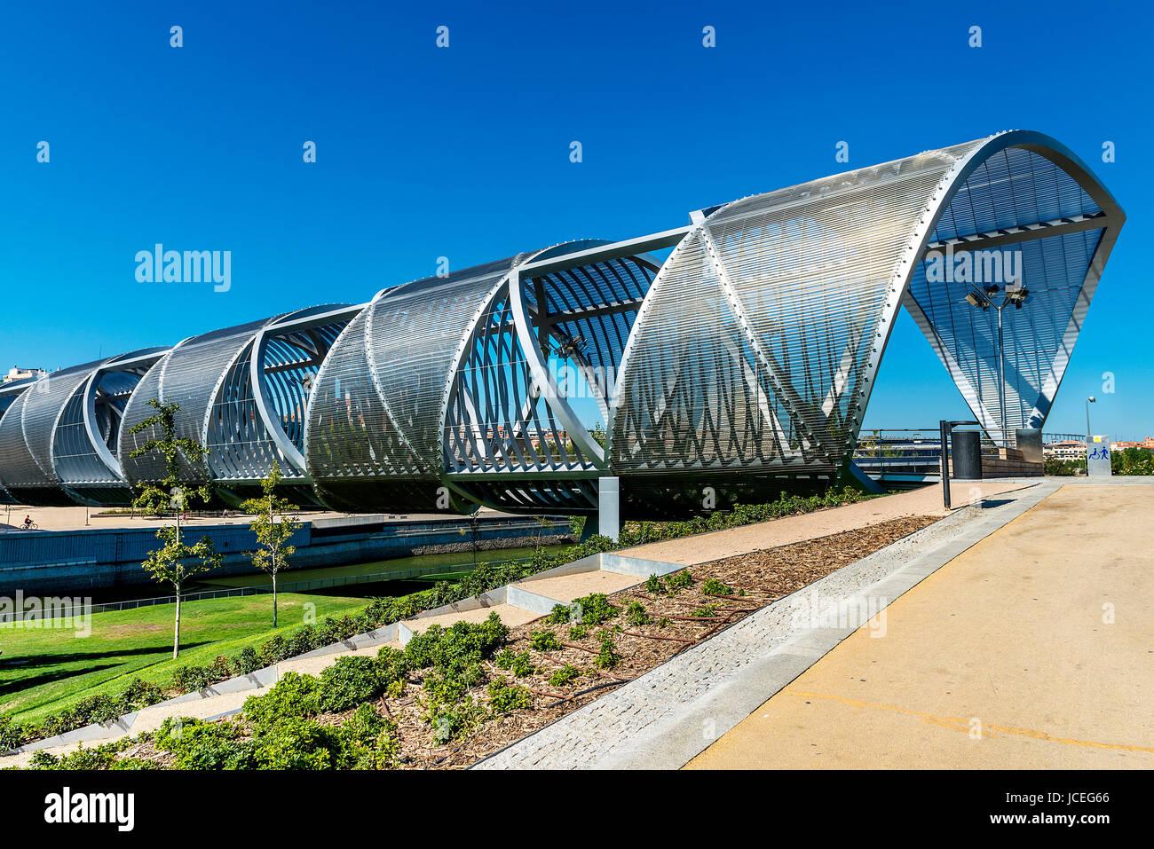 Arganzuela Bridge in Madrid city, Spain, Europe - Stock Image