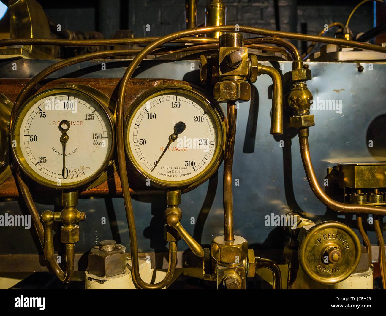Engineering pressure dials - Stock Image