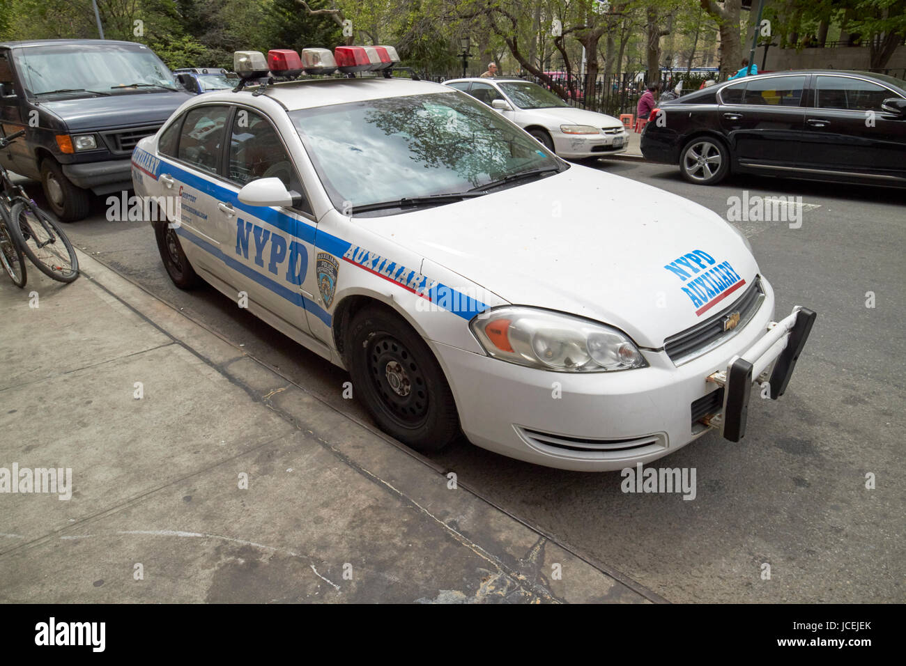 nypd auxiliary police patrol vehicle New York City USA - Stock Image