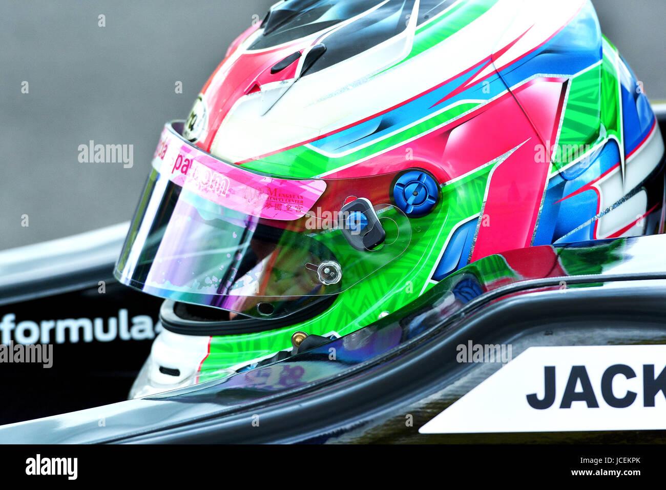 Formula Ford  Driver racing at the British Touring Car Championship - Stock Image