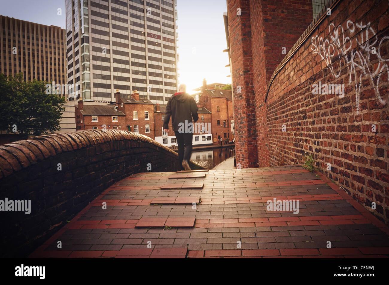 Birmingham Canals. UK - Stock Image