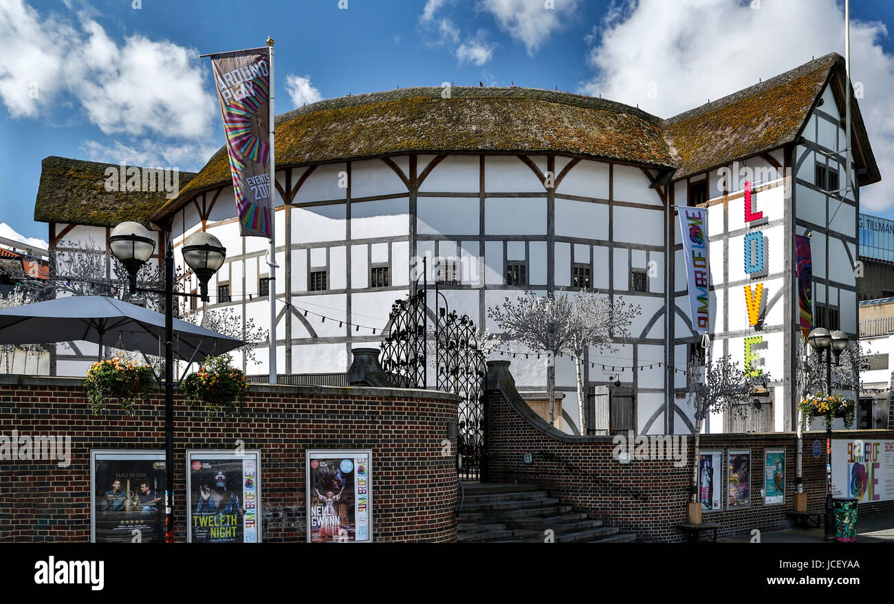 Shakespeare's Globe Theatre, London, England, United Kingdom - Stock Image