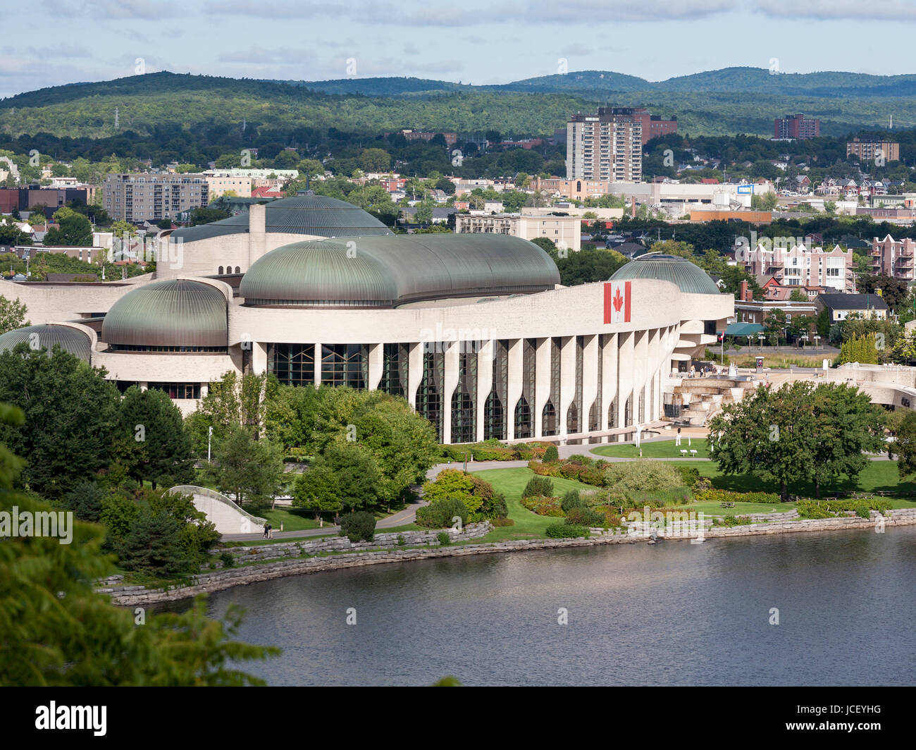Museum of Canadian History: Grand Hall: Sited across from the parliament buildings, on the Ottawa river, this museum - Stock Image