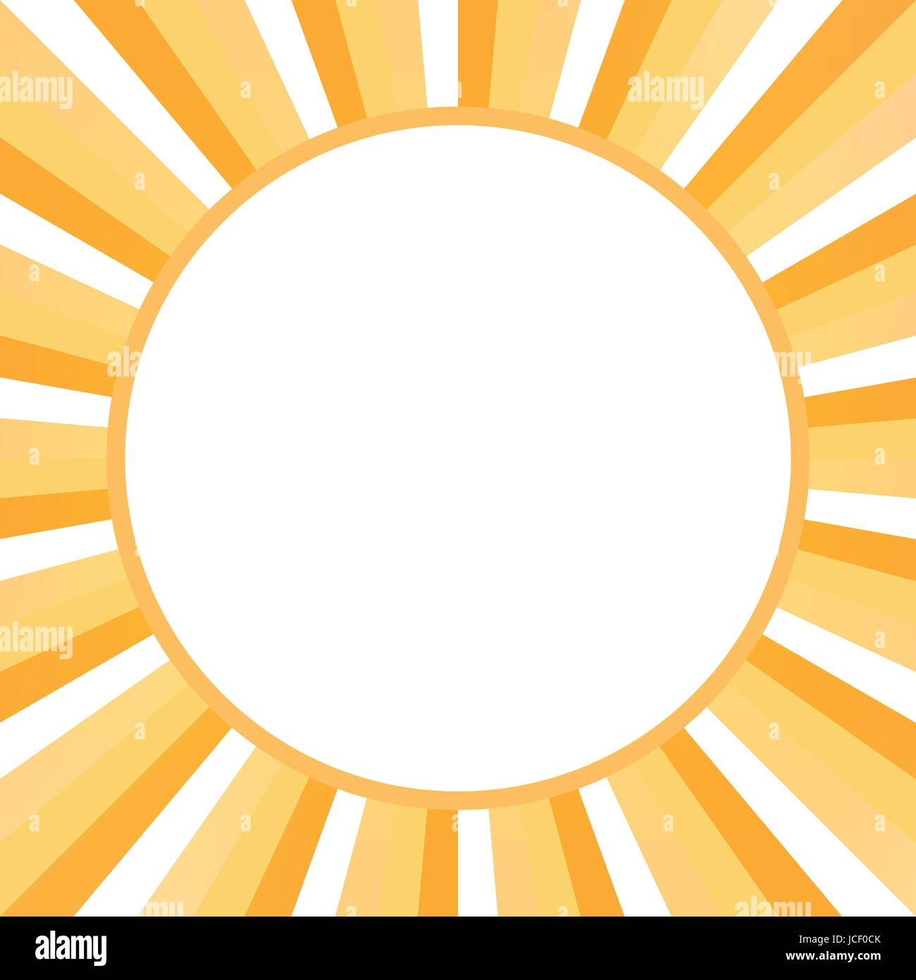 Sunburst Frame White Orange Rays Stock Photos & Sunburst Frame White ...