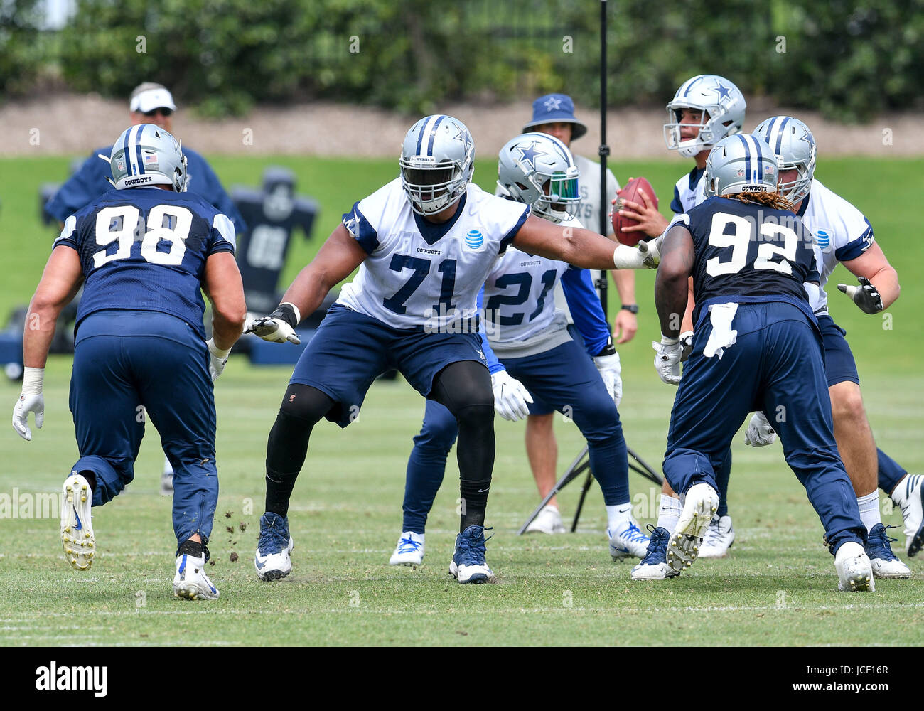 June 14th, 2017: .Dallas Cowboys offensive guard La'el Collins (71) .during a NFL minicamp at The Star in Frisco, Stock Photo
