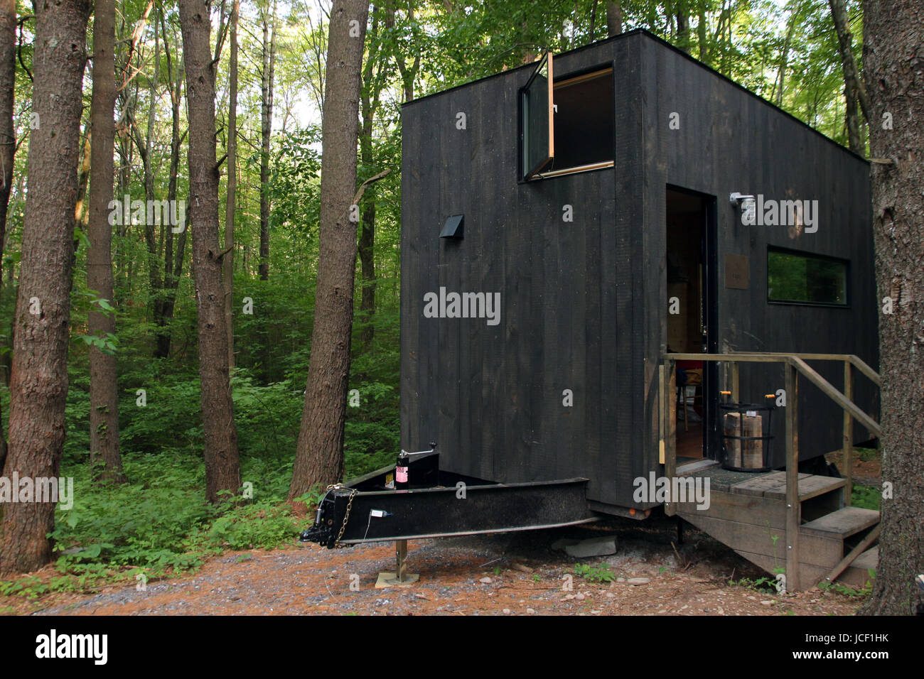 a tiny house holiday lodge in the catskills new york state 13
