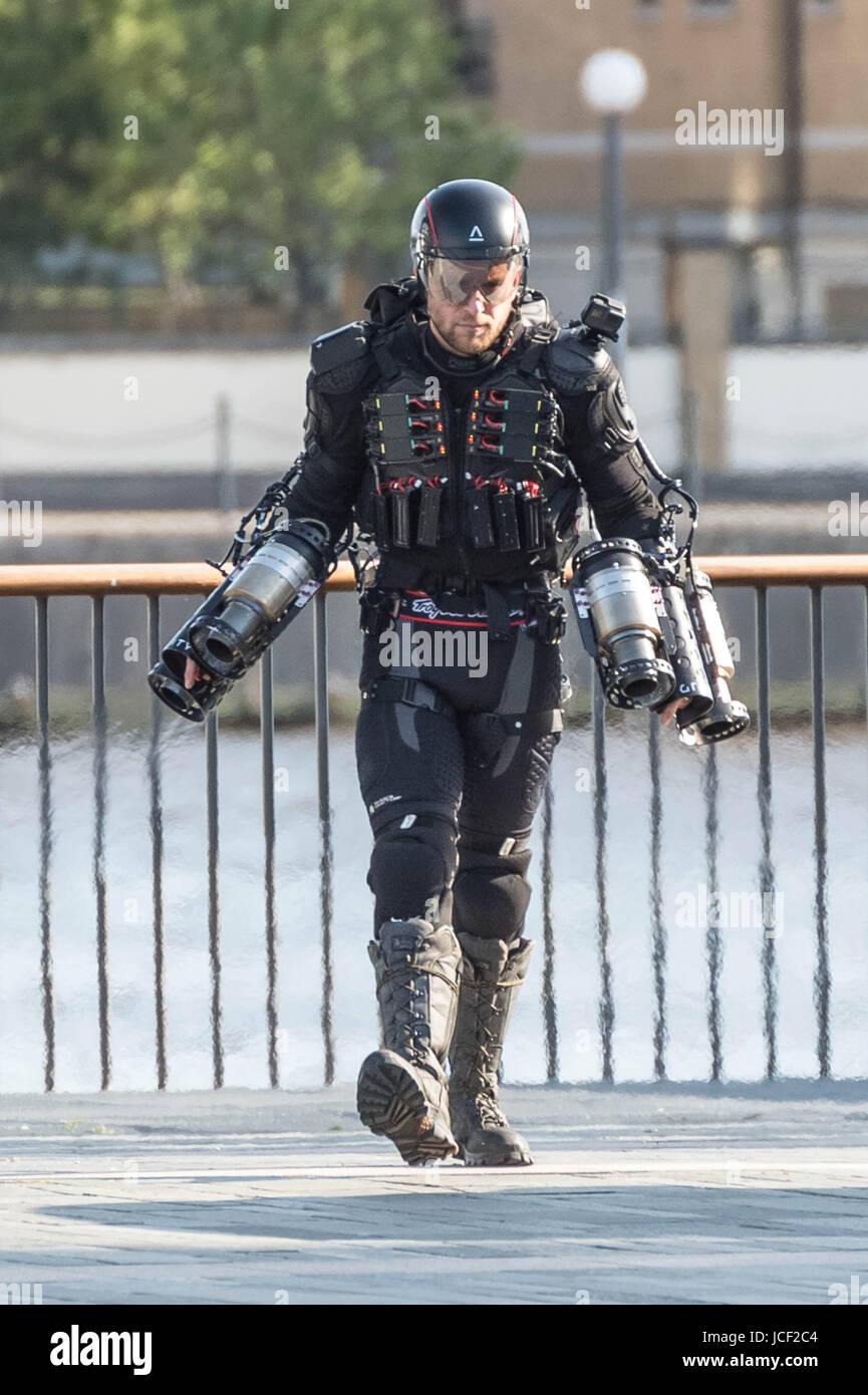 London, UK  14th June, 2017  Richard Browning 'Iron Man', founder of
