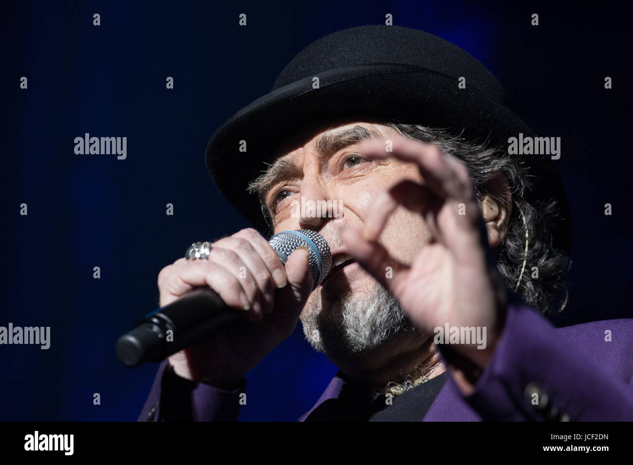 London, UK. 14th June, 2017. Joaquin Sabina performs at Royal Albert Hall as part of his tour Lo Niego Todo in London Stock Photo