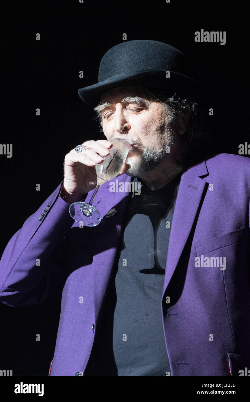 London, UK. 14th June, 2017. Joaquin Sabina performs at Royal Albert Hall as part of his tour Lo Niego Todo in London Stock Photo