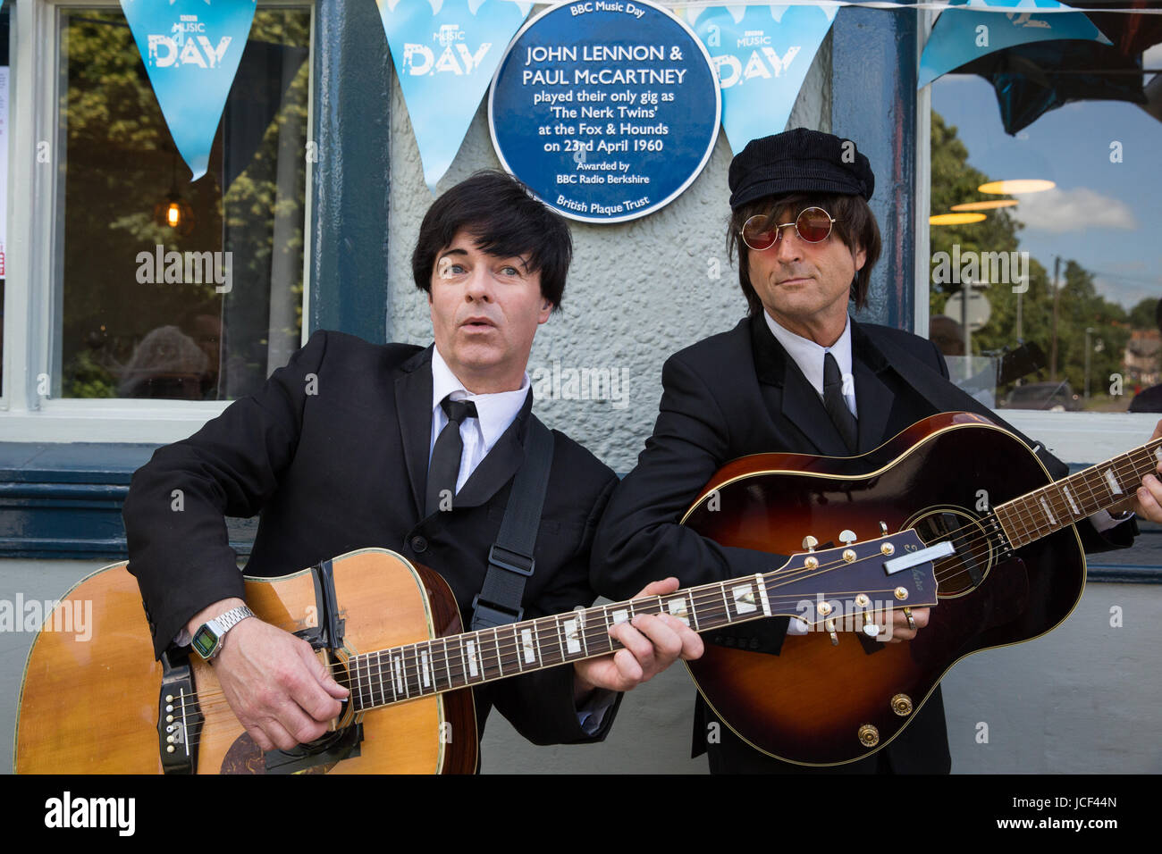 15th June 2017 Beatles Tribute Band The Upbeat Play After Actor Singer And Songwriter Kate Robbins Unveiled A Blue Plaque On BBC Music Day At