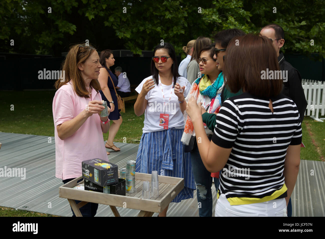London,UK,15th June 2017,Taste of London takes place in Regents Park. Taste of London is the definitive showcase Stock Photo