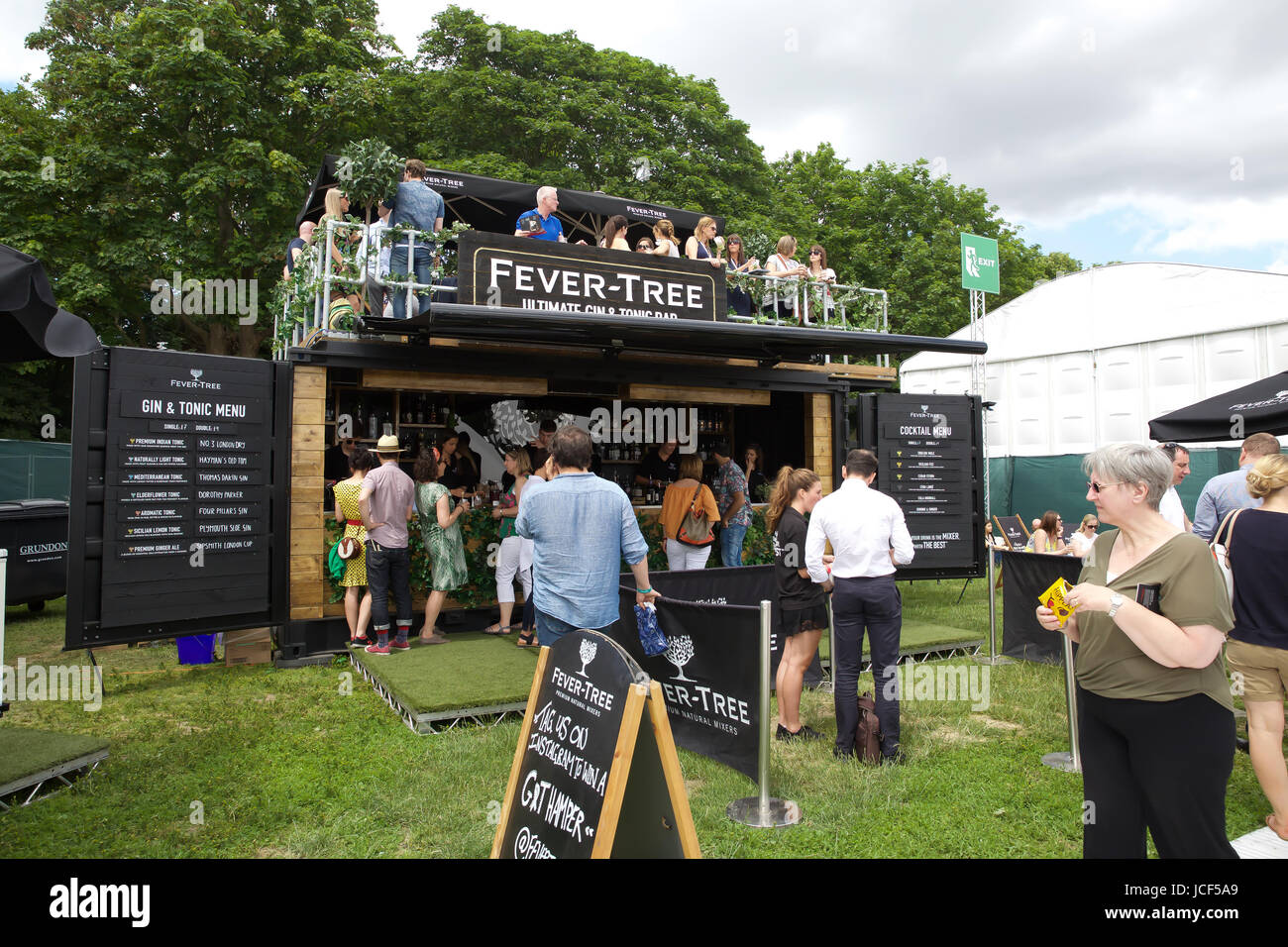London,UK,15th June 2017,Taste of London takes place in Regents Park. Taste of London is the definitive showcase - Stock Image