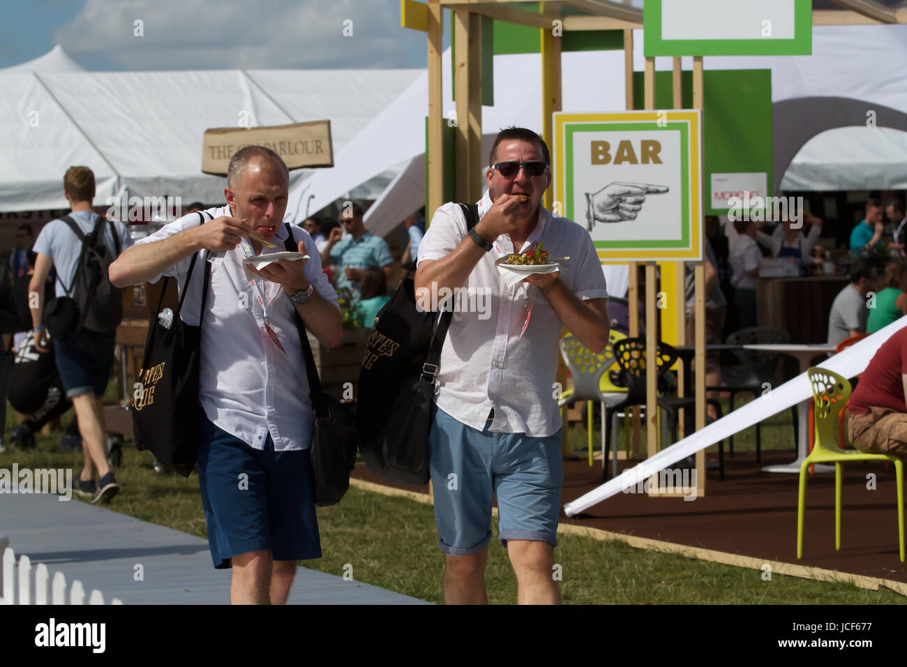 London, UK. 15th June, 2017. Taste of London takes place in Regents Park. Taste of London is the definitive showcase - Stock Image