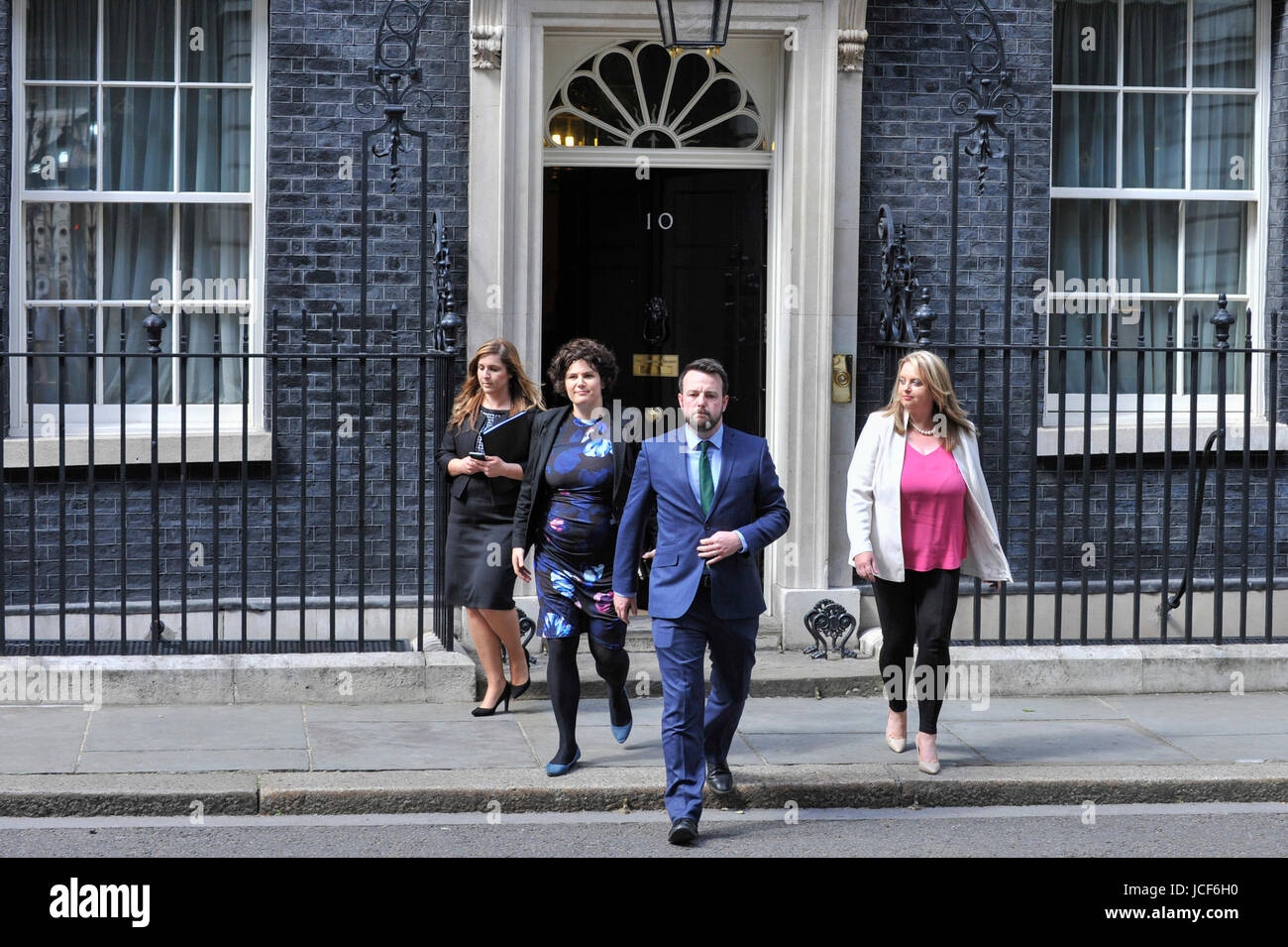 London, UK. 15th June, 2017. (C) Colum Eastwood, leader of the Social Democratic and Labour Party, exits Number - Stock Image