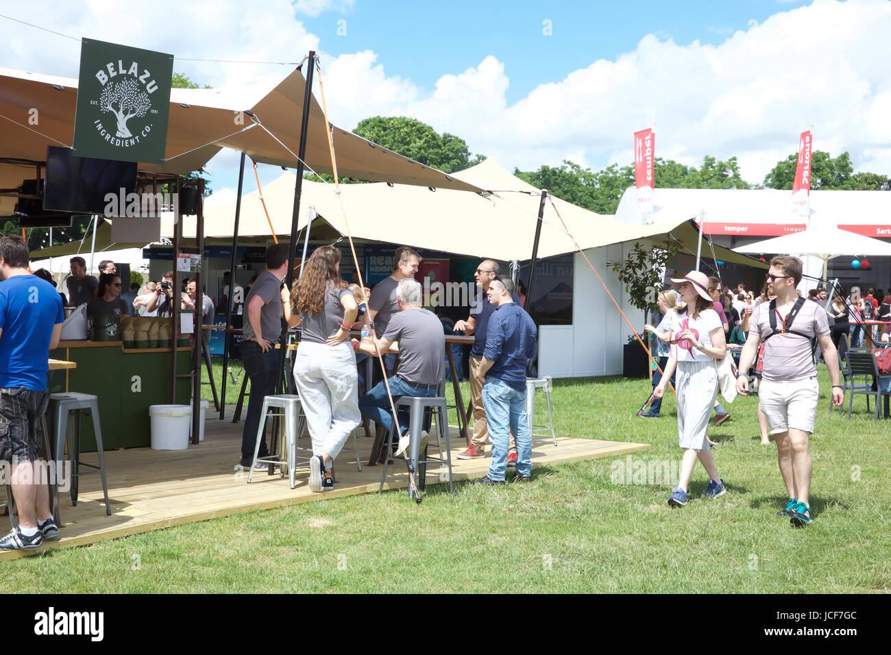 London, UK. 15th June, 2017. Taste of London takes place in Regents Park. Taste of London is the definitive showcase - Stock Image