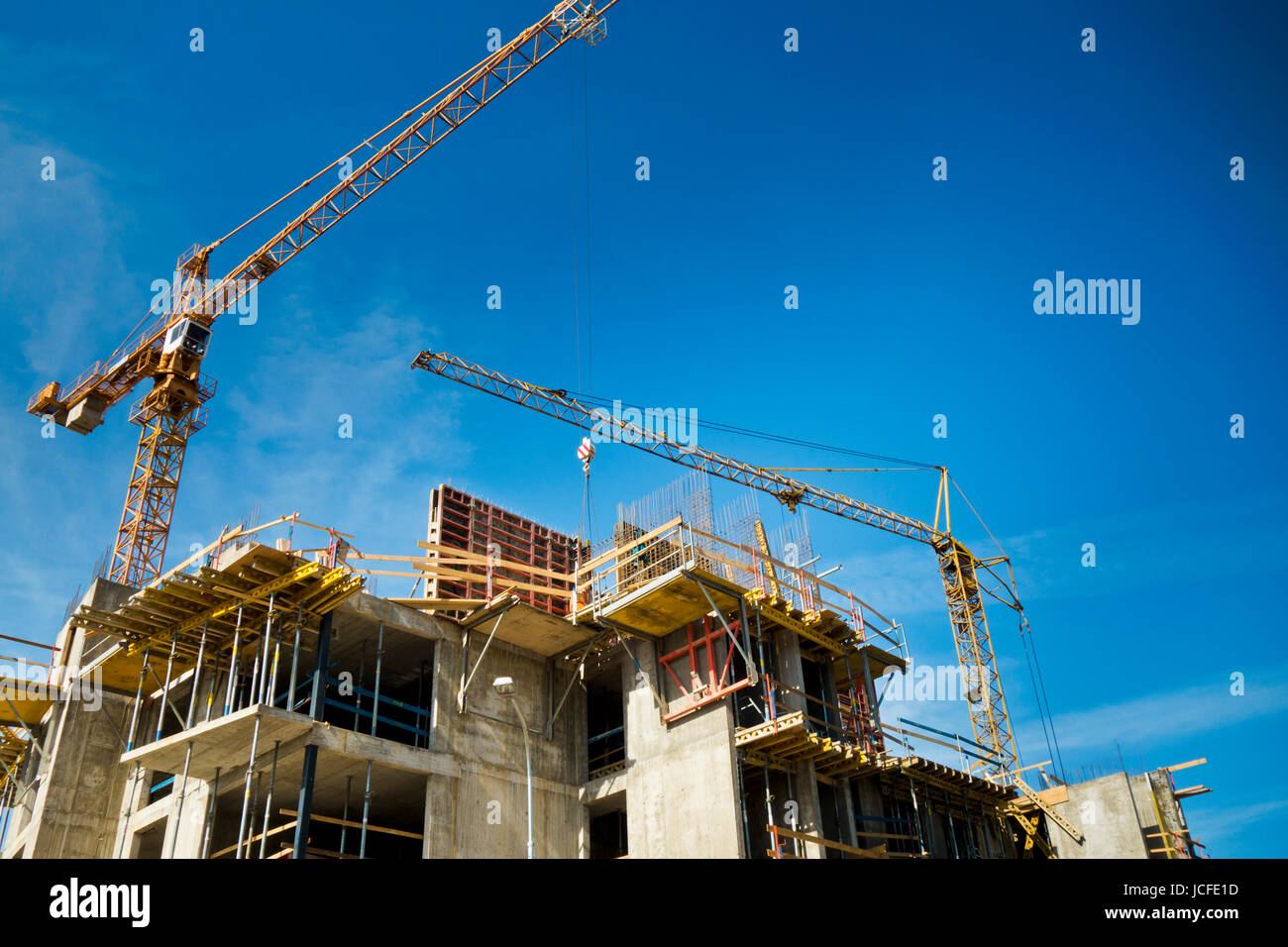 apartments building in construction - Stock Image