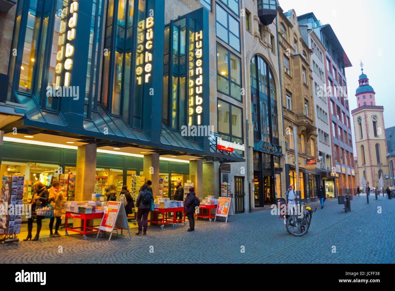 Hugendubel bookshop, Steinweg, Rathenauplatz, Frankfurt am Main ...