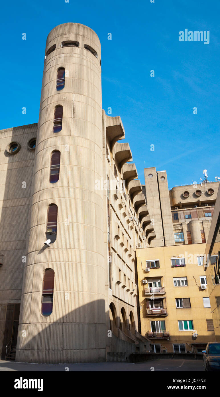 Main Post Office building, from 1982, Skopje, Macedonia - Stock Image
