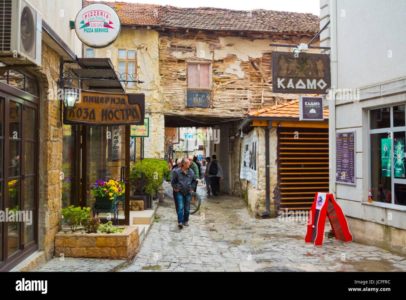 Old town, Ohrid, Macedonia - Stock Image