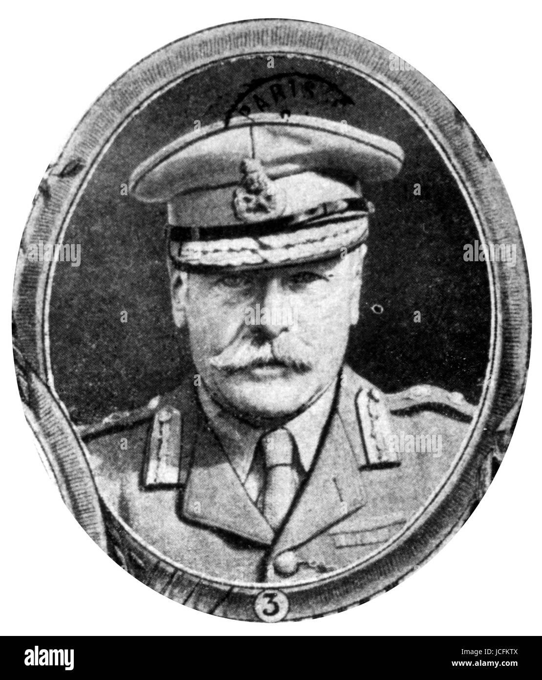 Portrait of Marshal Douglas Haig (1852-1928), 1st Earl Haig, British senior officer during World War I. He commanded - Stock Image
