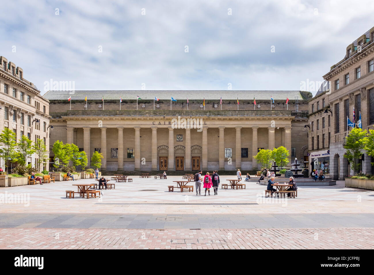 Exterior view of Caird Hall in Dundee, Scotland, United kingdom - Stock Image