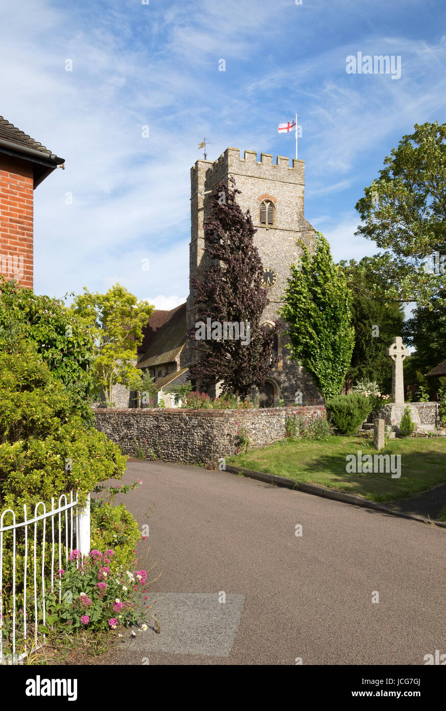 St Marys Church, Chartham village, Kent England UK - Stock Image