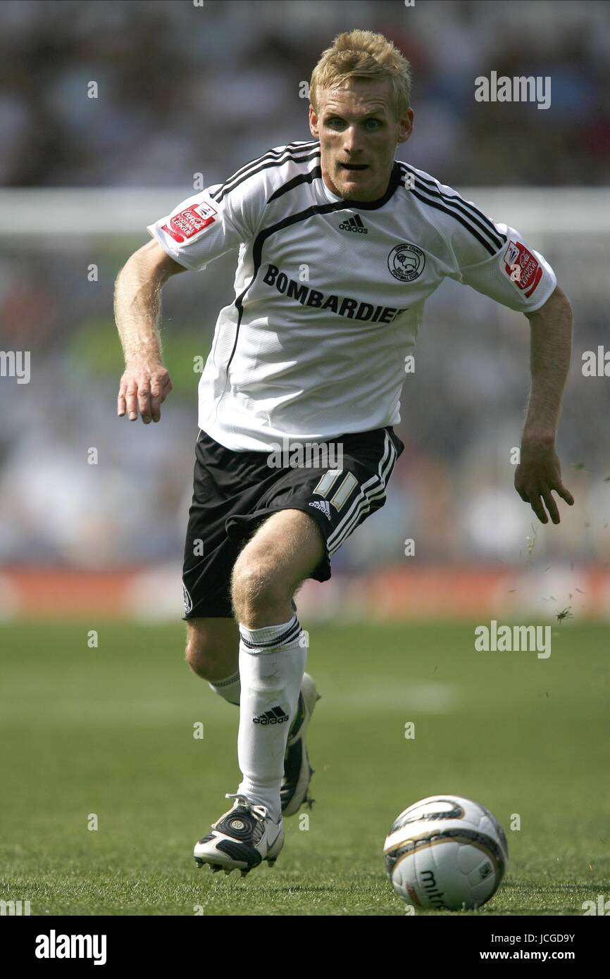 GARY TEALE DERBY COUNTY FC DERBY V PETERBOROUGH PRIDE PARK, DERBY, ENGLAND 08 August 2009 DIY98502   CHALLENGE  - Stock Image
