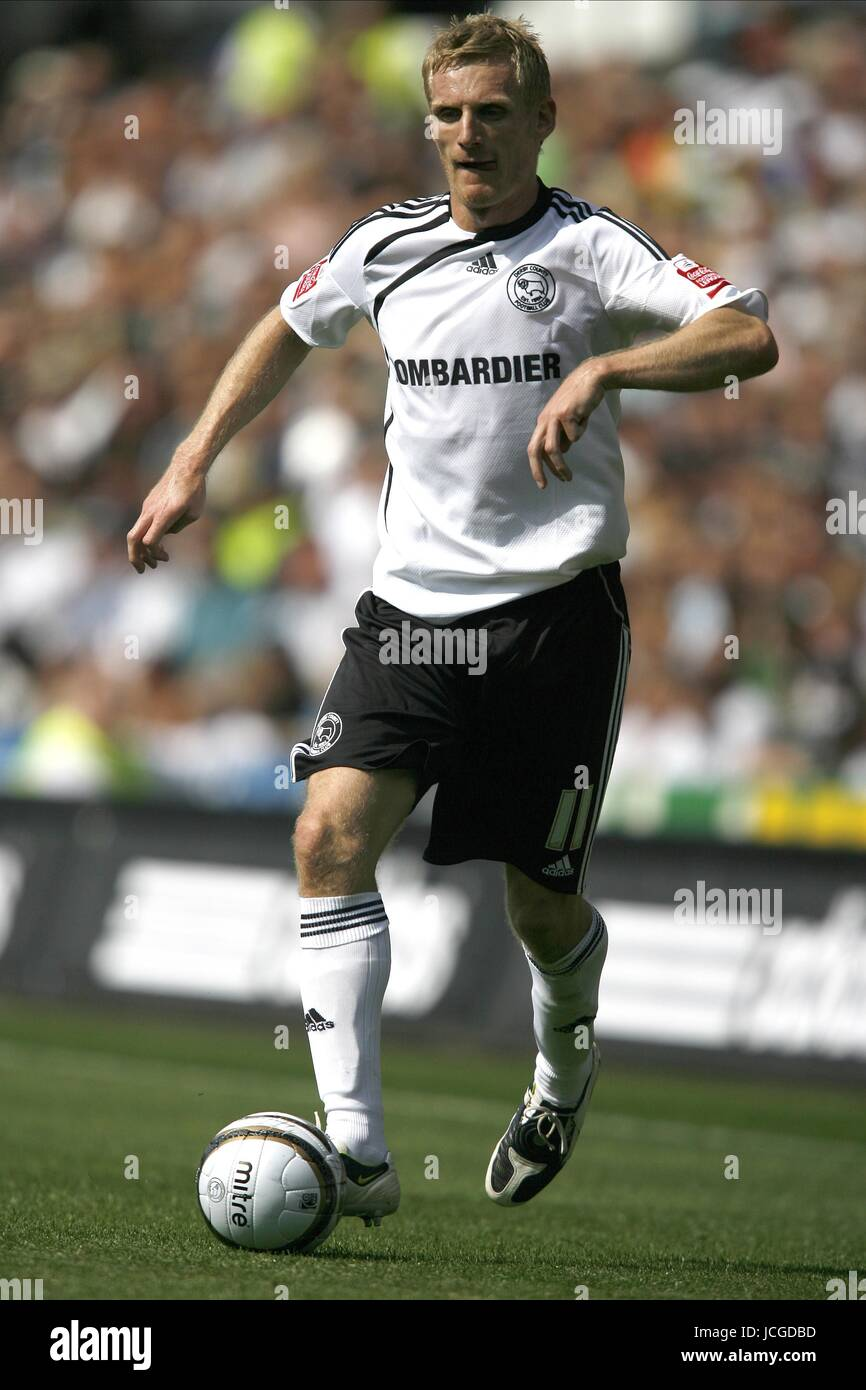 GARY TEALE DERBY COUNTY FC DERBY V PETERBOROUGH PRIDE PARK, DERBY, ENGLAND 08 August 2009 DIY98544     WARNING! - Stock Image