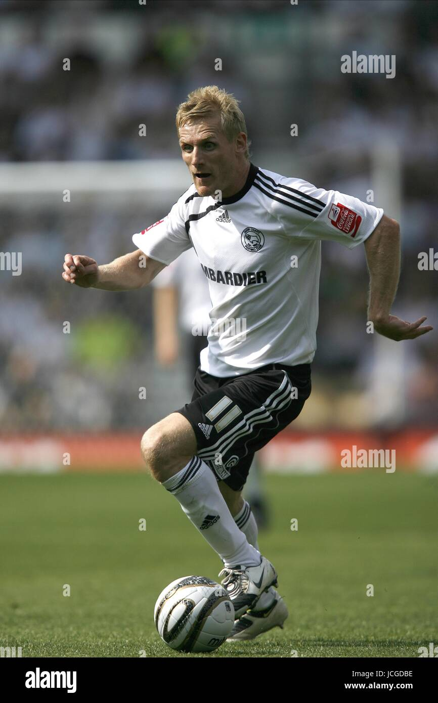 GARY TEALE DERBY COUNTY FC DERBY V PETERBOROUGH PRIDE PARK, DERBY, ENGLAND 08 August 2009 DIY98545   CHALLENGE  - Stock Image