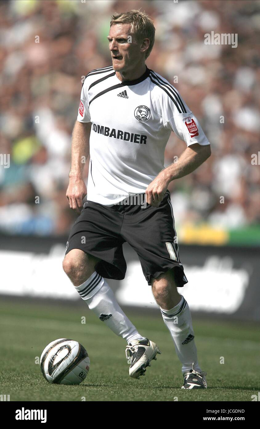 GARY TEALE DERBY COUNTY FC DERBY V PETERBOROUGH PRIDE PARK, DERBY, ENGLAND 08 August 2009 DIY98793     WARNING! - Stock Image