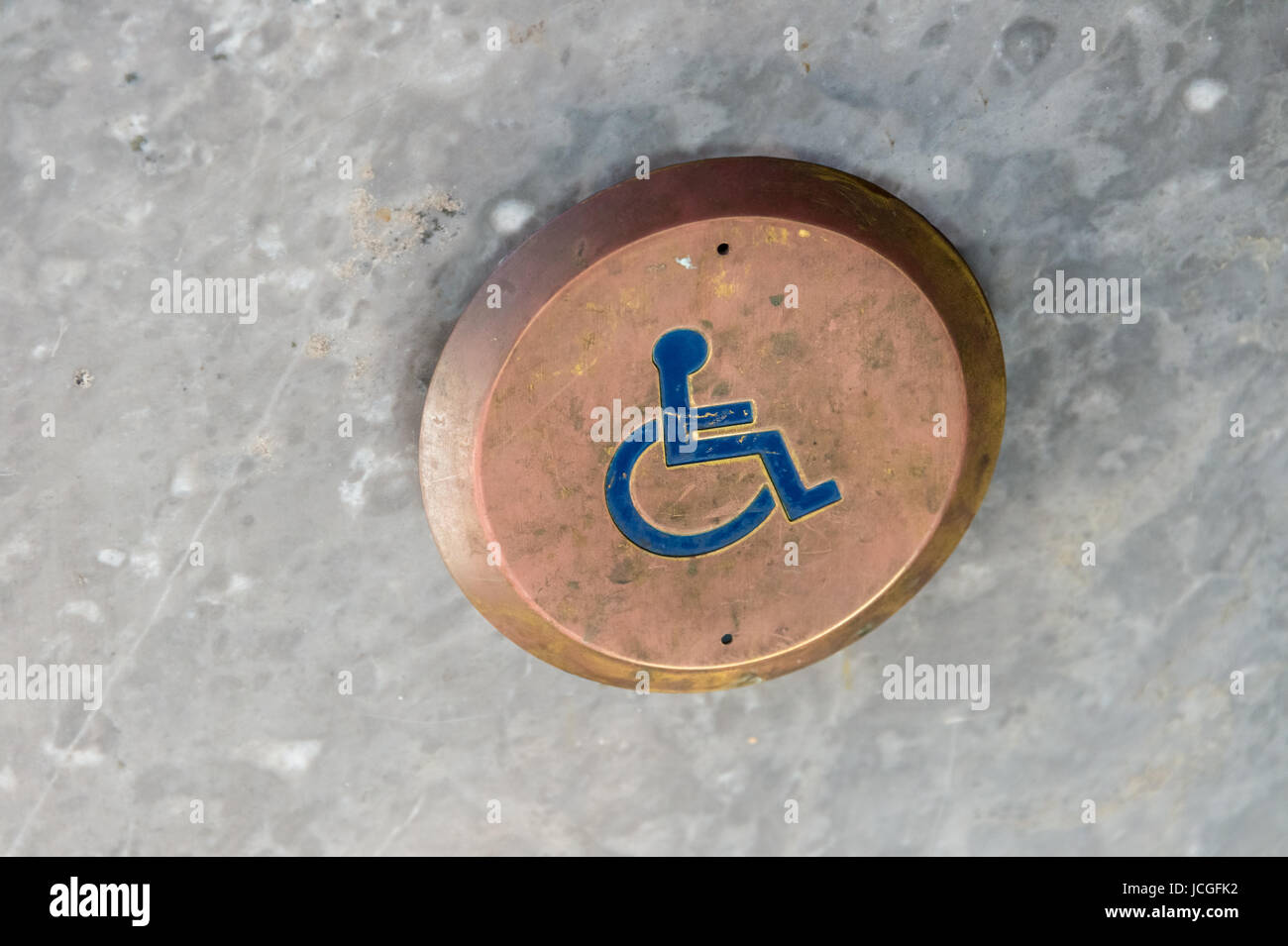 Handicap Door Opener - Stock Image
