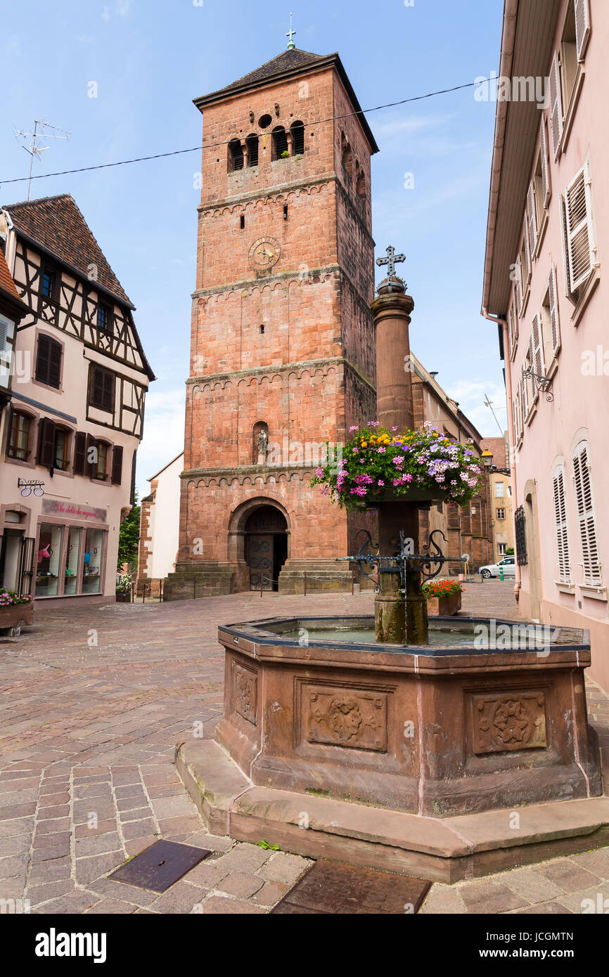 Church of Notre-Dame in Saverne Stock Photo