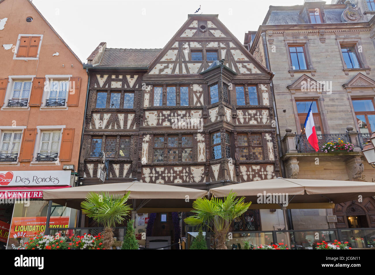 Maison Katz house from 17th Century (Taverne Katz), Saverne, Alsace, France. Stock Photo