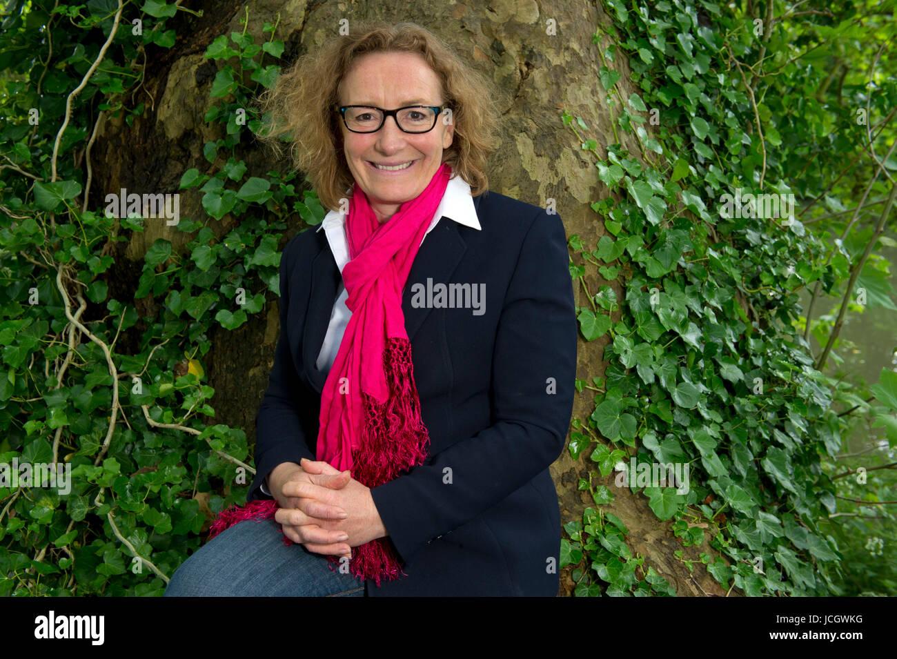 Juliet Davenport, CEO of Good Energy, a green energy supplier in Chippenham, Wiltshire, UK. Stock Photo