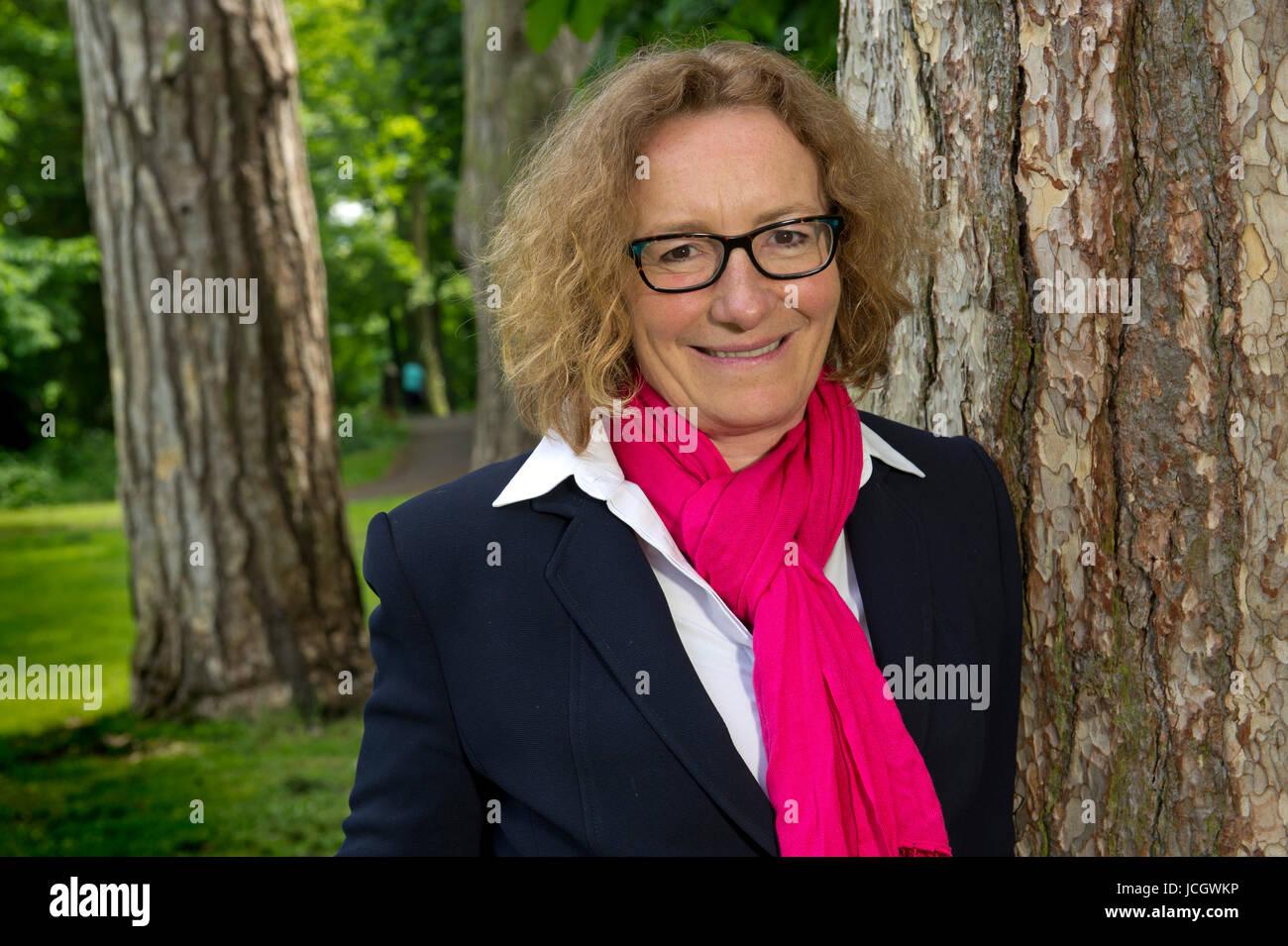 Juliet Davenport, CEO of Good Energy, a green energy supplier in Chippenham, Wiltshire, UK. - Stock Image