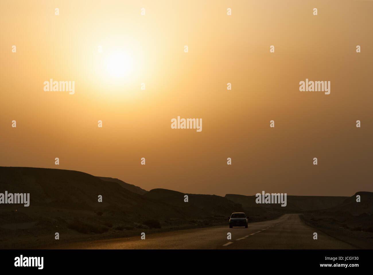 Car in desert. South Sinai. Egypt - Stock Image