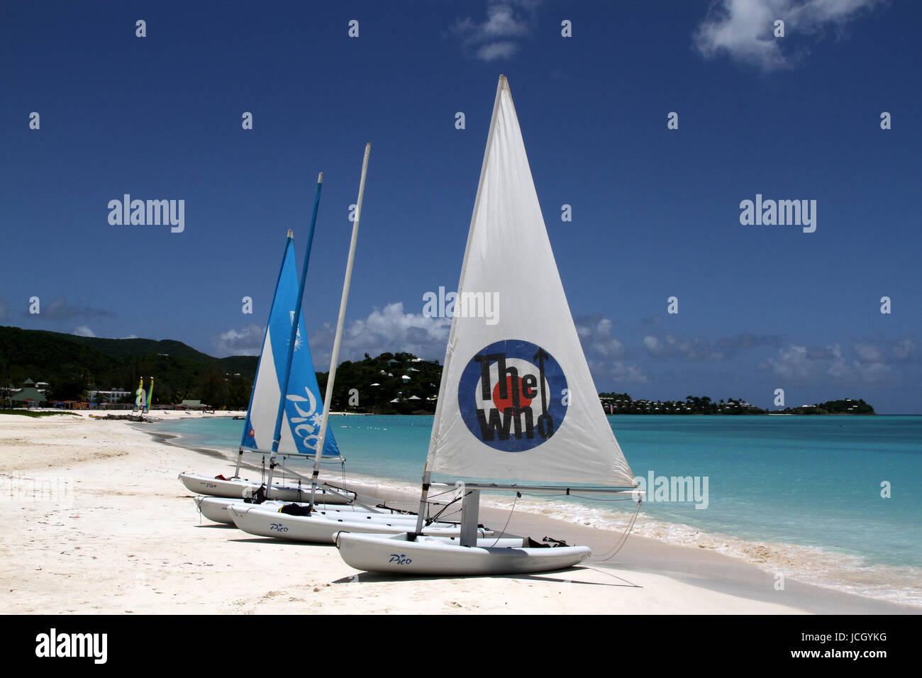 Falmouth Superyacht Dock, Antigua - Stock Image