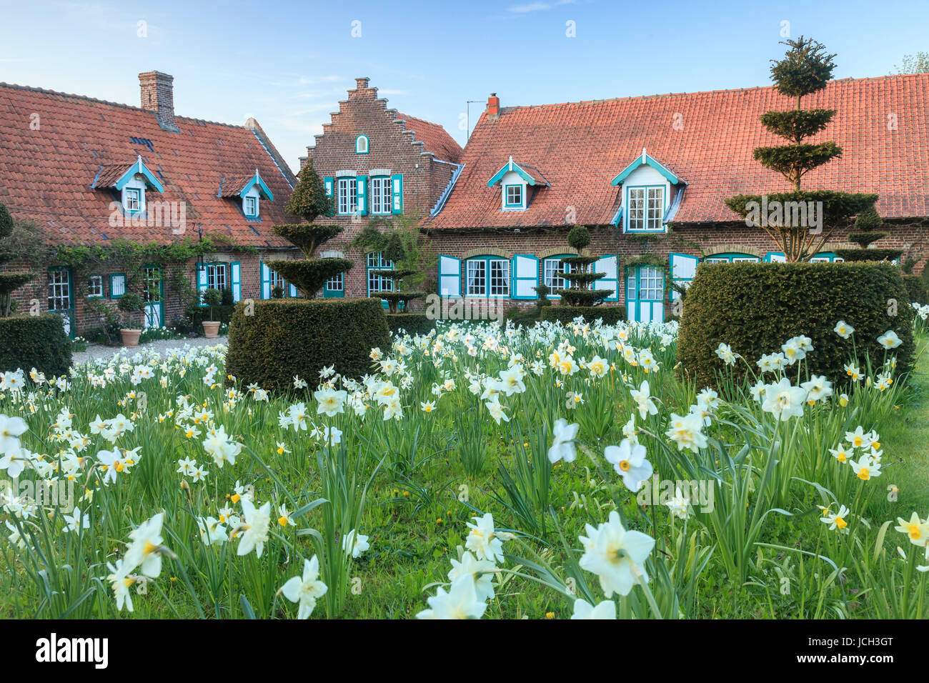 france nord 59 cassel jardin de la ferme du mont des r collets stock photo 145434824 alamy. Black Bedroom Furniture Sets. Home Design Ideas