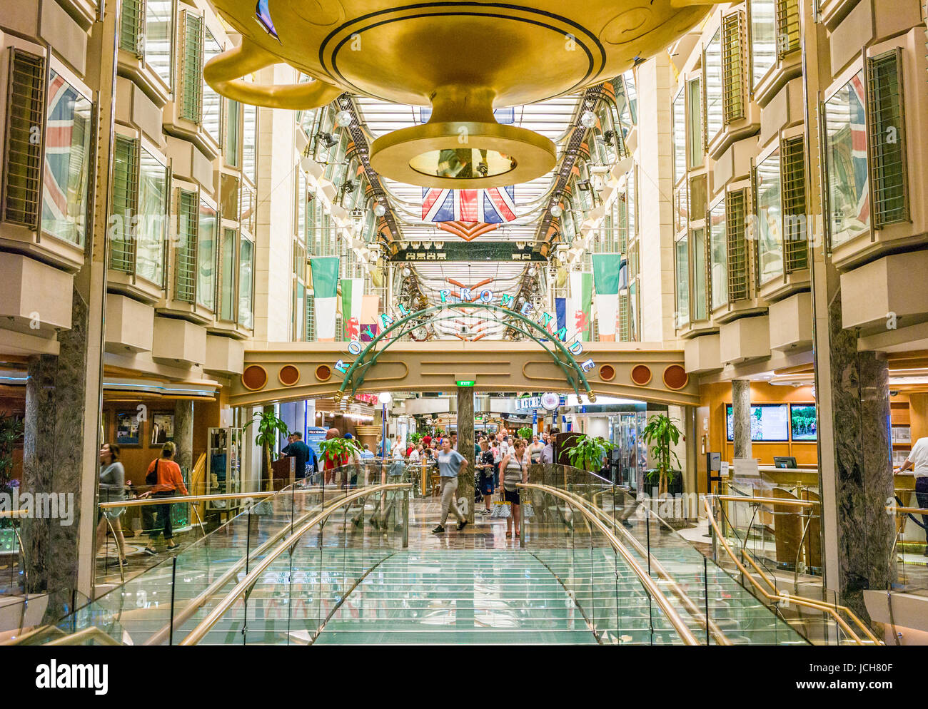 ROYAL PROMENADE ABOARD CRUISE SHIP INDEPENDANCE OF THE SEAS  FRANCE MAY 30TH: Guest aboard the Cruise ship Indendance Stock Photo