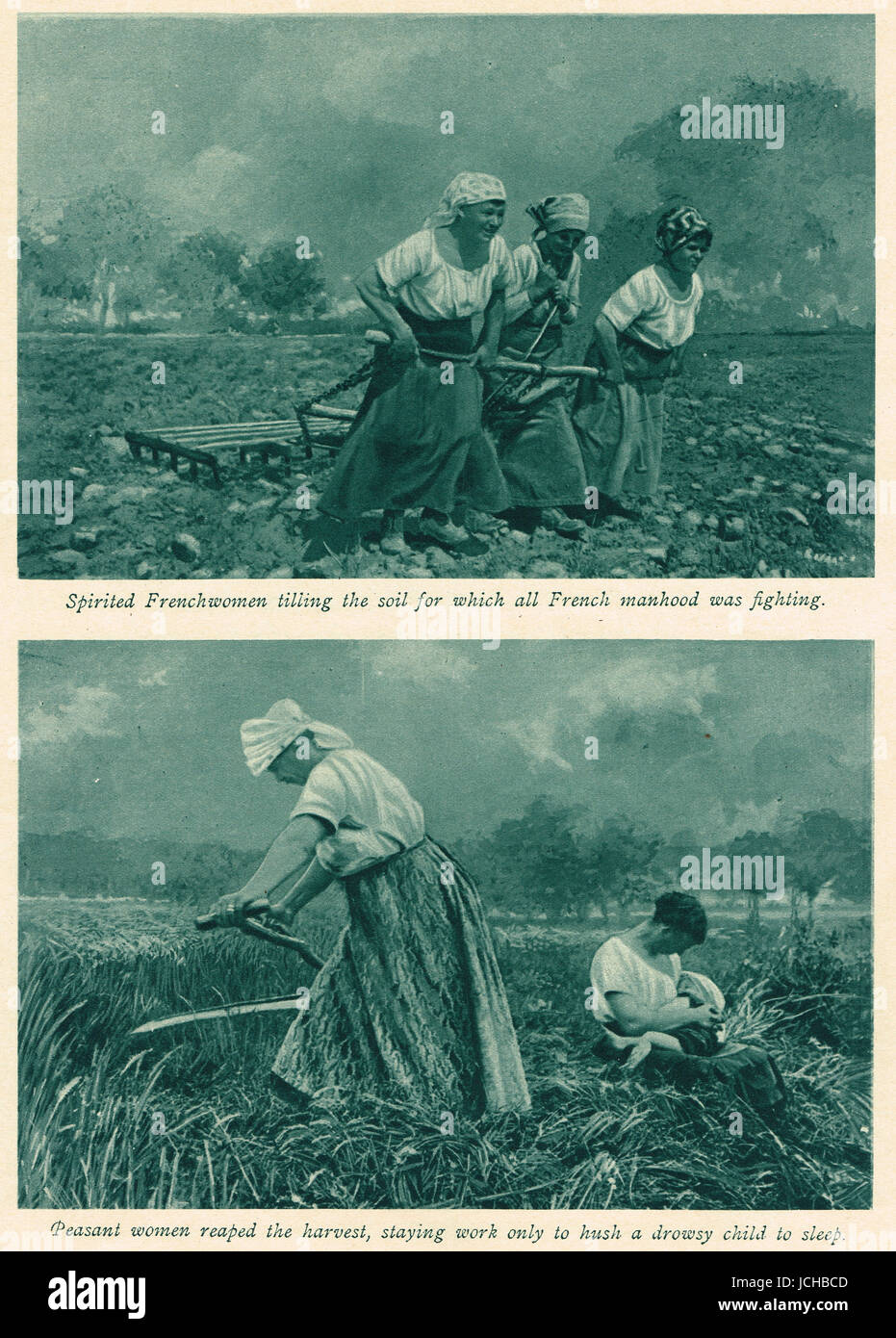Mobilisation of French Women during the first world war - Stock Image