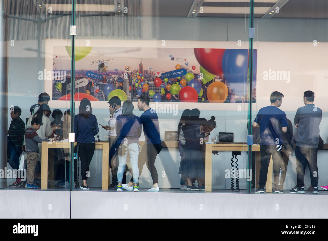 Apple Store in Hong Kong Stock Photo