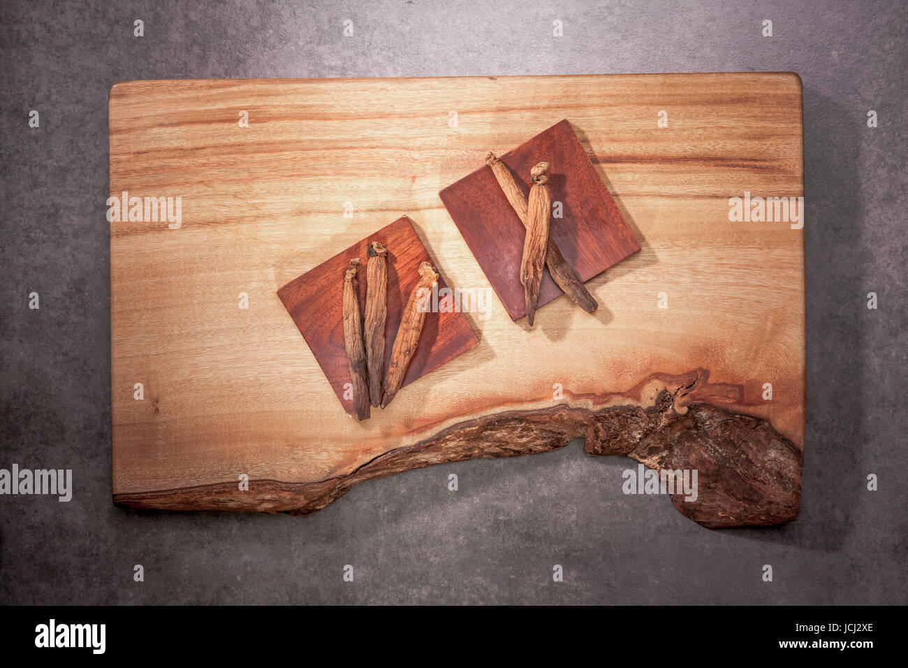 Traditional Korean Medicine Dry Red Ginseng Stock Photo 145456262