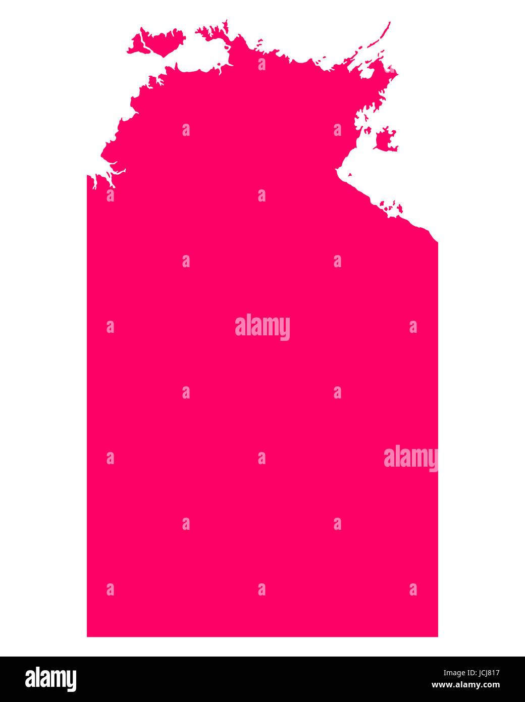 Karte von Northern Territory - Stock Image