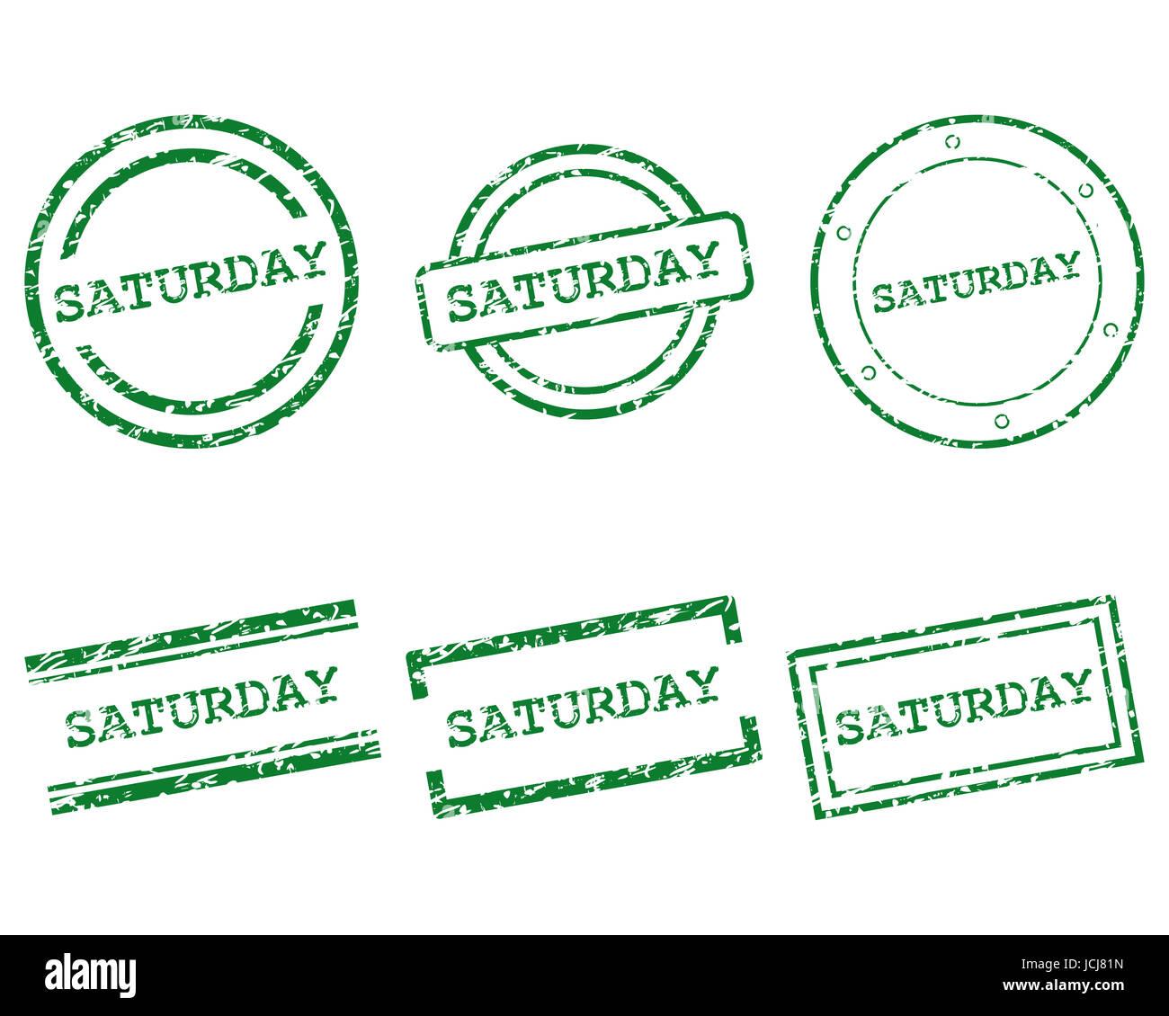 Saturday Stempel - Stock Image